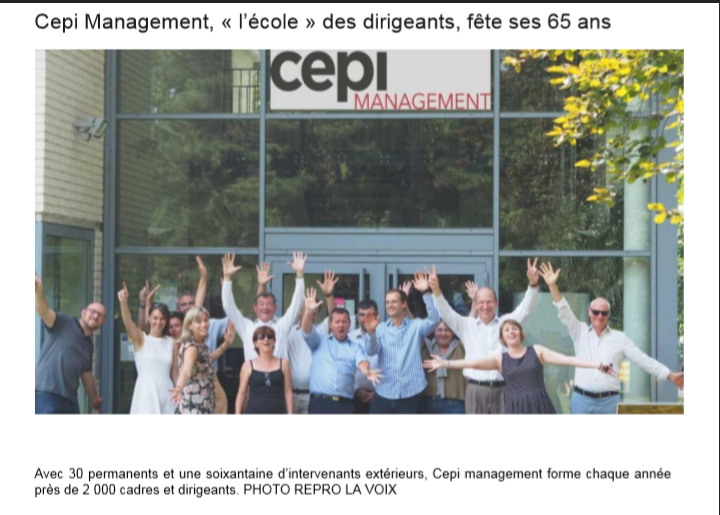 La Voix du Nord – «CEPI Management fête ses 65 ans»