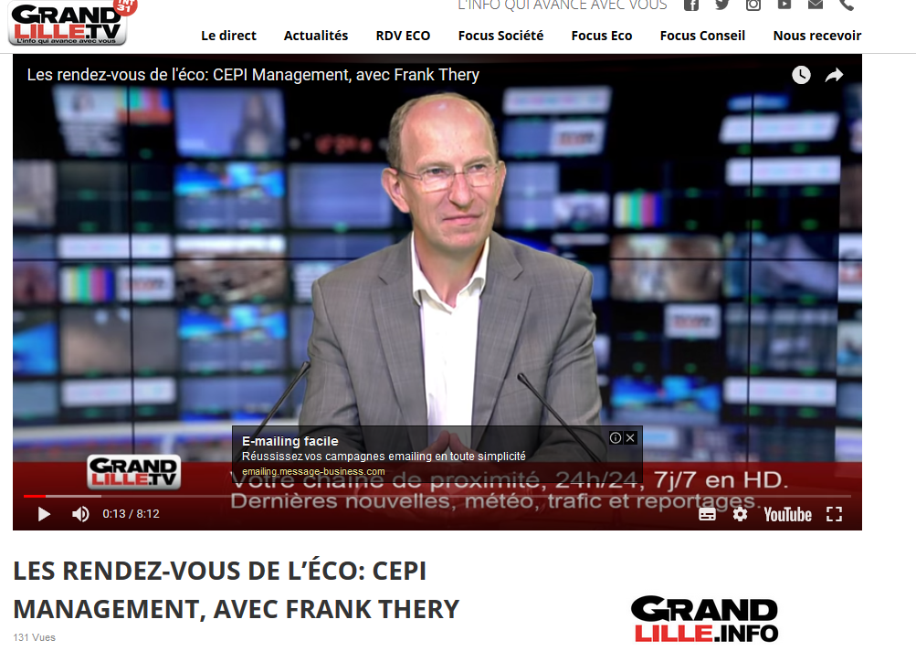 Interview Grand Lille TV